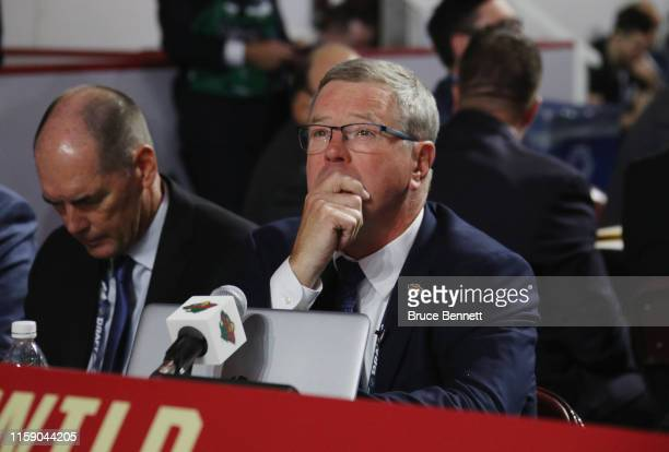 Paul Fenton of the Minnesota Wild attends the 2019 NHL Draft at the Rogers Arena on June 22 2019 in Vancouver Canada