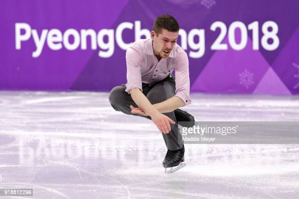 Paul Fentz of Germany competes during the Men's Single Skating Short Program at Gangneung Ice Arena on February 16, 2018 in Gangneung, South Korea.