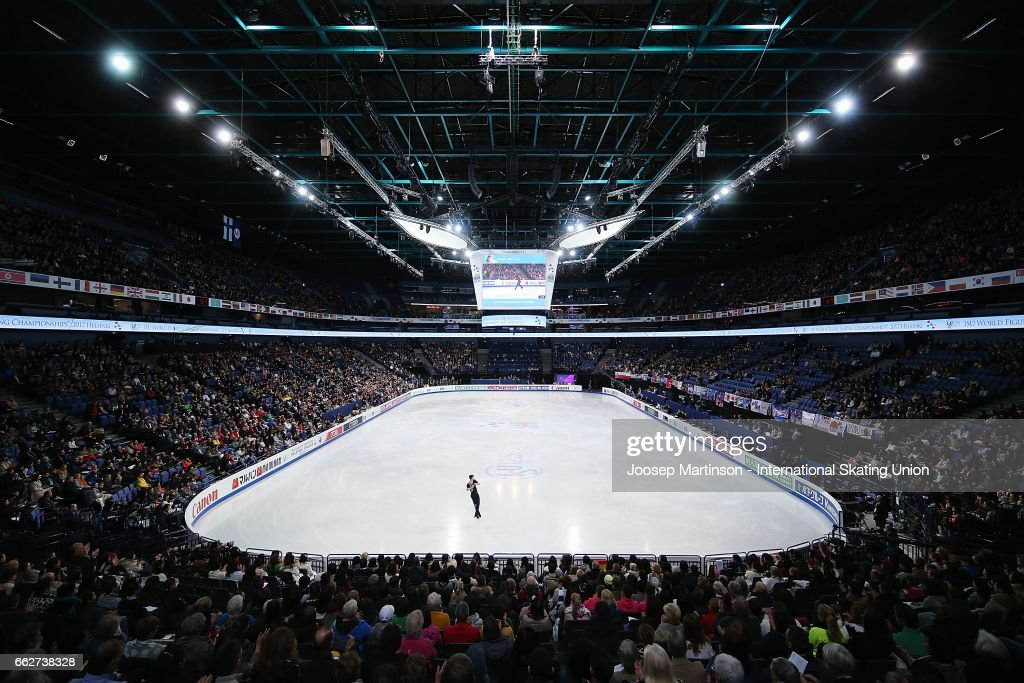 Paul Fentz of Germany competes in the Men's Free Skating during day four of the World Figure Skating Championships at Hartwall Arena on April 1, 2017 in Helsinki, Finland.