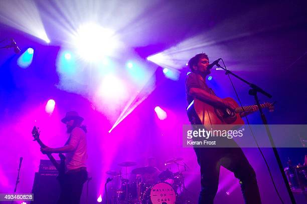 Paul Flannery and Patrick Sheehy of Walking on Cars performs at The Olympia Theatre on October 20, 2015 in Dublin, Ireland.