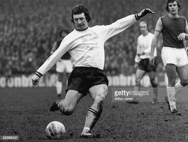 Paul Fletcher of Portsmouth FC in action 20th March 1975