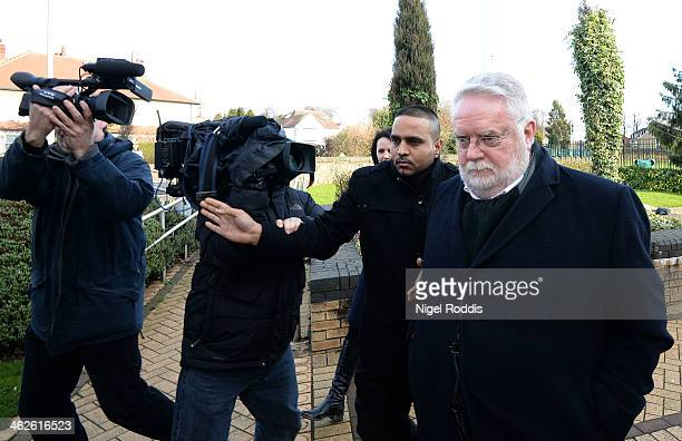 Paul Flowers arrives at Stainbeck police station on January 14 2014 in Leeds England Former Coop Bank boss the Rev Paul Flowers appeared at the...