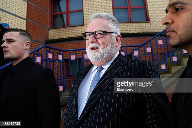 Paul Flowers former chairman of CoOperative Bank Plc center arrives at Leeds Magistrates Court in Leeds UK on Wednesday May 7 2014 Flowers the former...
