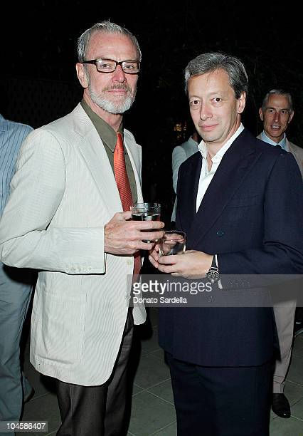 Paul Fortune and designer Frederic Malle attend Barney's New York Celebrates Frederic Malle's Home Collectionon on September 30 2010 in Los Angeles...