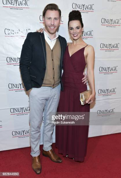Paul Freeman and Erin Cahill attend the Cinemagic Annual Gala at The Fairmont Miramar Hotel Bungalows on March 15 2018 in Santa Monica California