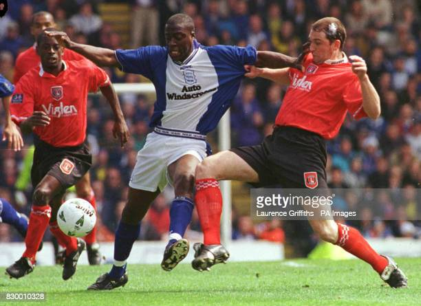 Paul Furlong of Birmingham City battles with Eddie Youds of Charlton during their Nationwide League match at St Andrews this afternoon Final Score 00...