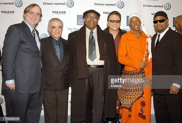 Paul G Allen Martin Scorsese BB King Jimmie Vaughan IndiaArie and Chuck D arrive for Martin Scorsese Presents Salute to the Blues Concert Kicking off...