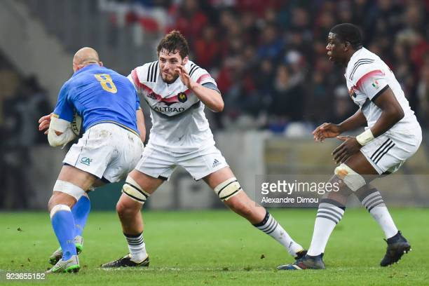 Paul Gabrillagues of France during the NatWest Six Nations match between France and Italy at Stade Velodrome on February 23 2018 in Marseille France
