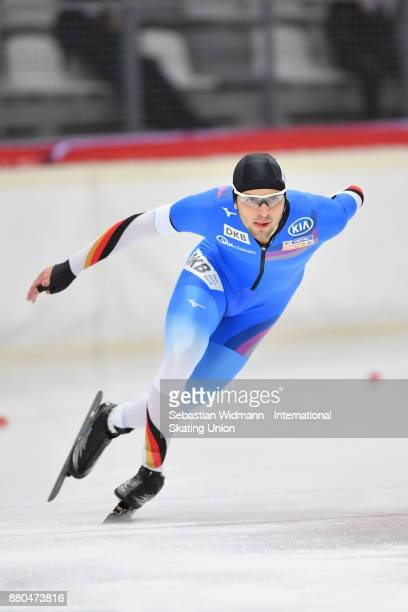 Paul Galczinsky of Germany performs during the Men 1500 Meter at the ISU ISU Junior World Cup Speed Skating at Max Aicher Arena on November 26 2017...