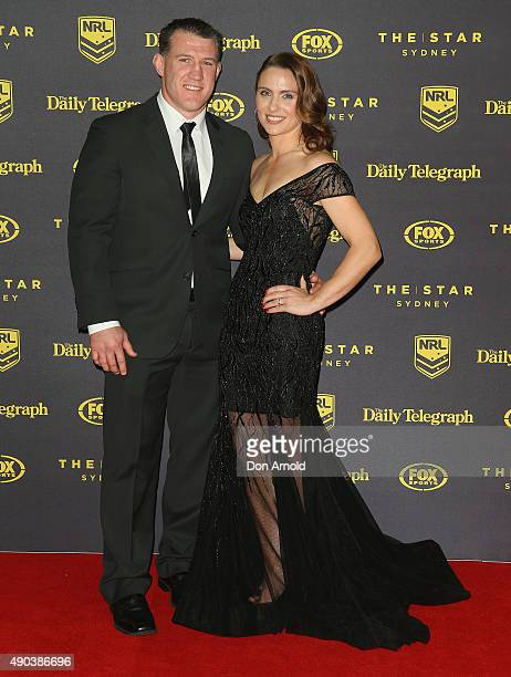 Paul Gallen and Anne Gallen arrive at the 2015 Dally M Awards at Star City on September 28 2015 in Sydney Australia