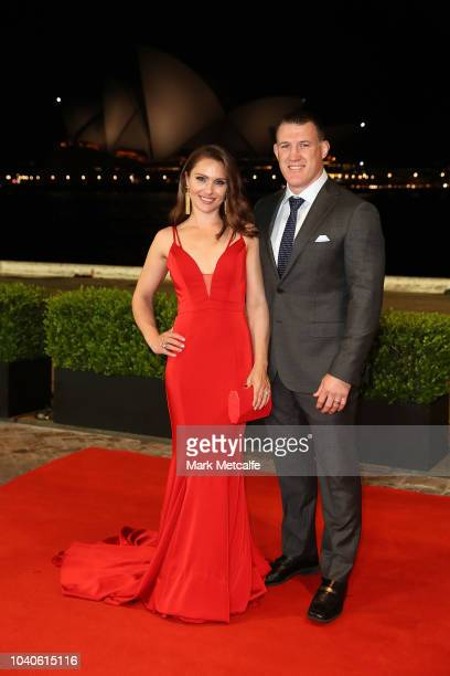 Paul Gallen and his wife Anne Gallen arrive at the 2018 Dally M Awards at Overseas Passenger Terminal on September 26 2018 in Sydney Australia