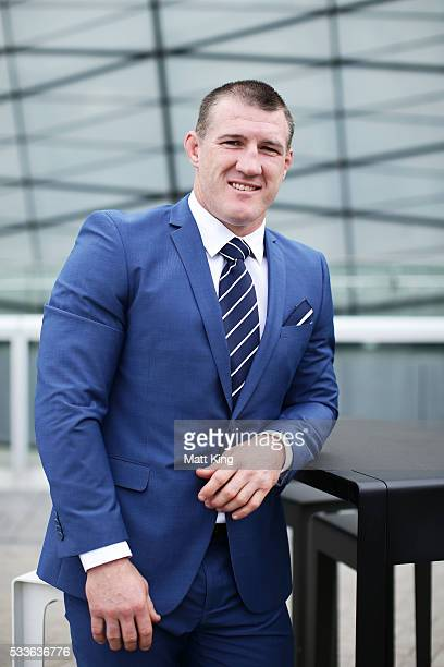 Paul Gallen poses during the NSW Blues State of Origin team announcement at The Star on May 23 2016 in Sydney Australia