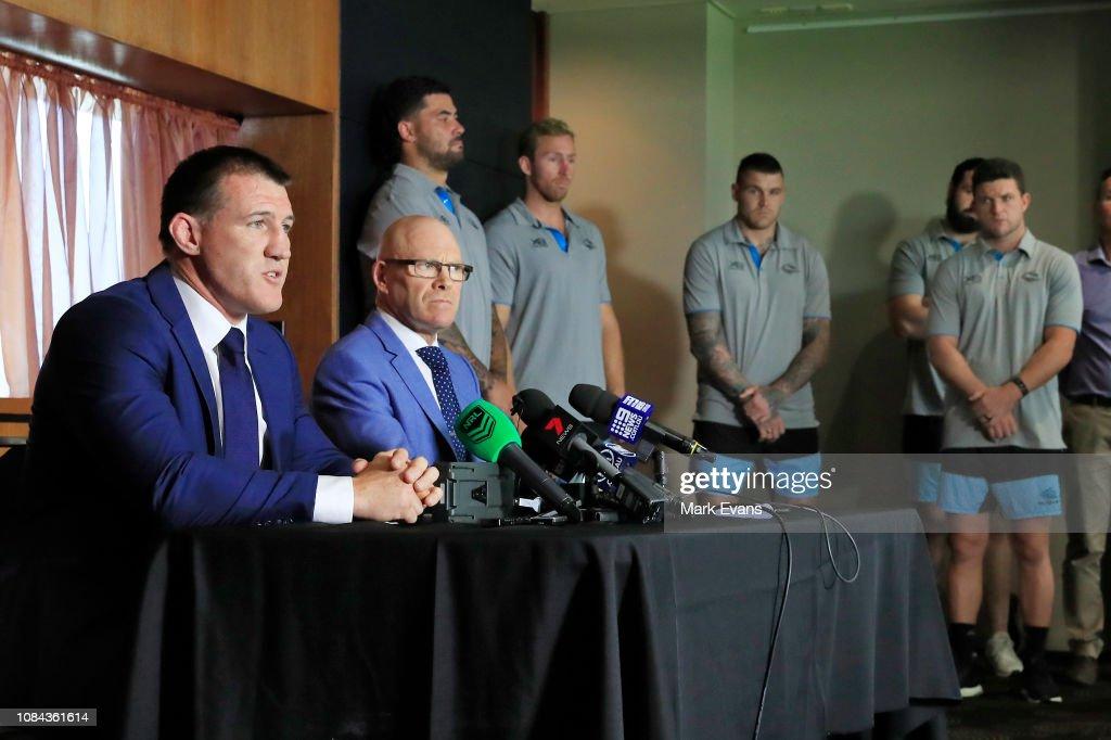 Cronulla Sharks Press Conference : News Photo