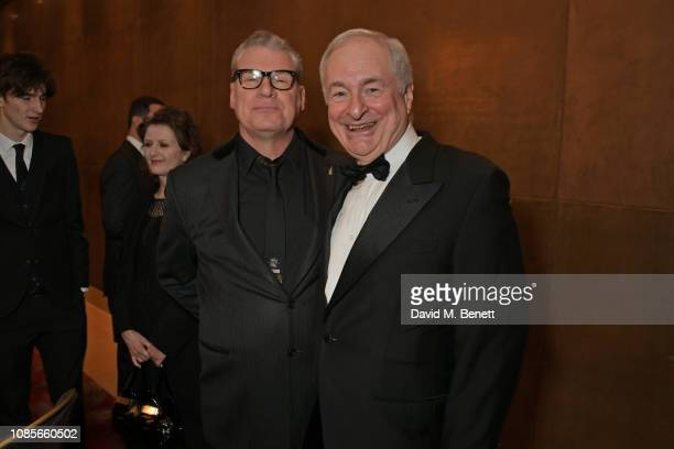 Paul Gambaccini and guest attend The 39th London Film Critics' Circle Awards at The May Fair Hotel on January 20, 2019 in London, England.
