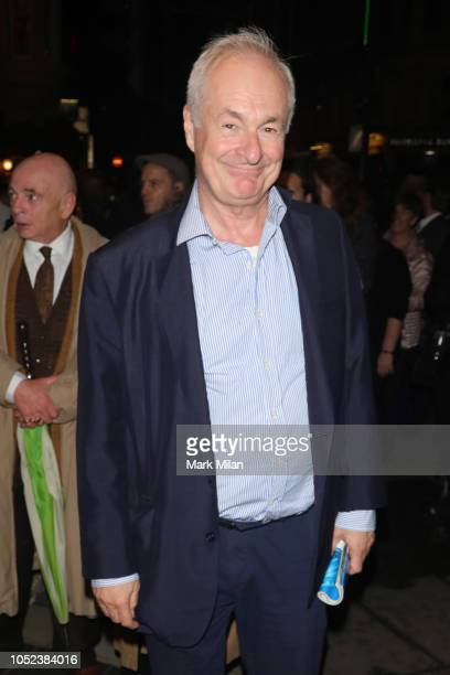 Paul Gambaccini attends the opening night of 'Company' at Gielgud Theatre on October 17, 2018 in London, England.
