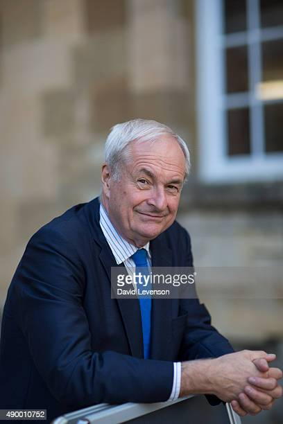 Paul Gambaccini, DJ and radio presenter, during the Blenheim Palace Literary Festival at Blenheim Palace on September 25, 2015 in Woodstock, England.