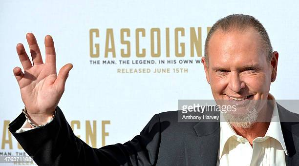 Paul Gascoigne attends the Premiere of Gascoigne at Ritzy Brixton on June 8 2015 in London England