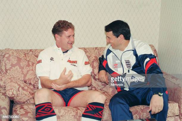 Paul Gascoigne chats with England manager Graham Taylor in the build up to Wednesday's crucial World Cup clash with Holland at Wembley. And the...