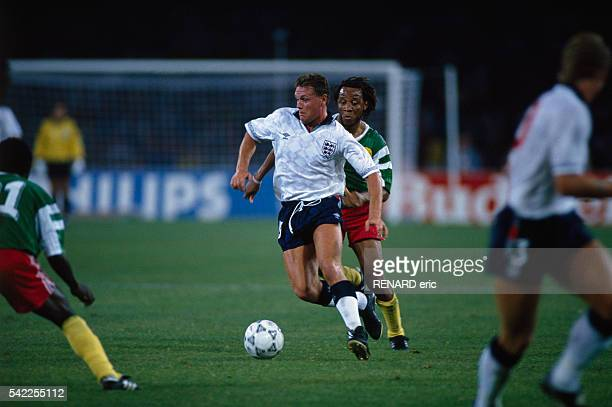 Paul Gascoigne from England during a quarterfinal match of the 1990 FIFA World Cup against Cameroon