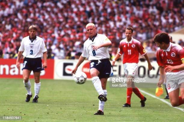 Paul Gascoigne of England during the European Championship match between England and Switzerland at Wembley Stadium London England on 8th June 1996