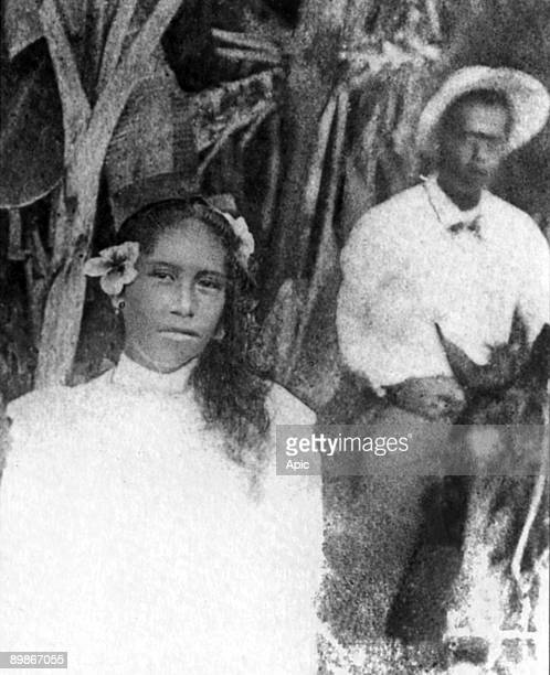 Paul Gauguin installed in the village of Atuona, painted model Vahine Vaeoho Marie Rose, aged 14 which will install with the painter to 1901
