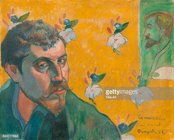 Paul Gauguin , Self-Portrait with Portrait of Bernard, 'Les Misérables' oil on canvas, Van Gogh Museum, Amsterdam.
