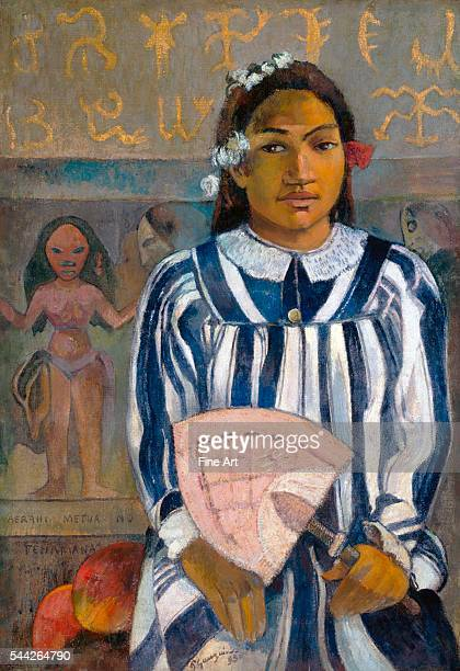 Paul Gauguin , The Ancestors of Tehamana, or Tehamana Has Many Parents oil on canvas, 76.3 x 54.3 cm , Art Institute of Chicago.