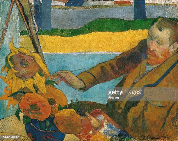 Paul Gauguin Vincent van Gogh Painting Sunflowers oil on canvas Van Gogh Museum Amsterdam