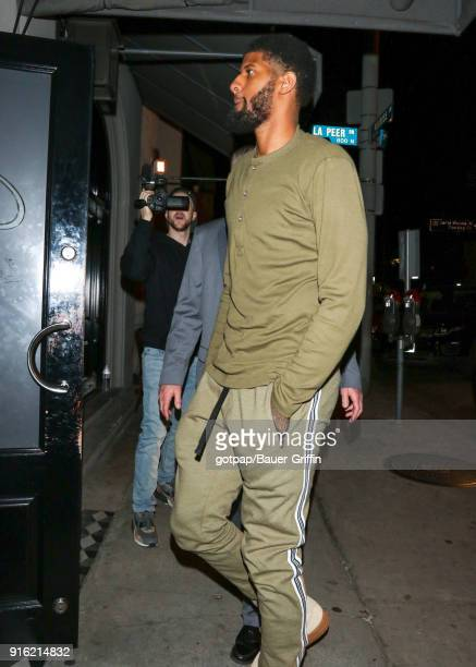 Paul George is seen on February 09 2018 in Los Angeles California