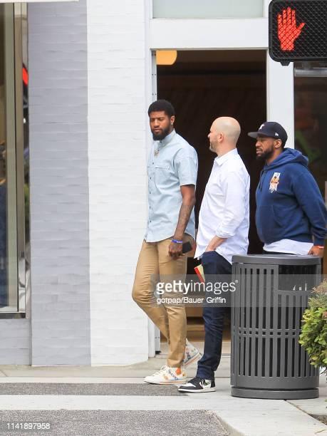 Paul George is seen on May 06 2019 in Los Angeles California