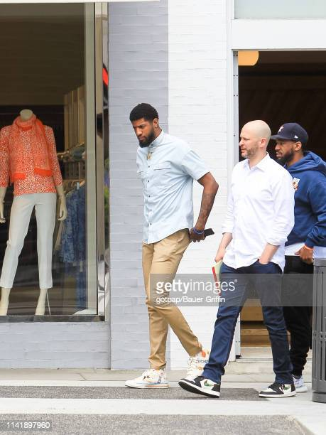 Paul George is seen on May 06 2019 in Los Angeles California