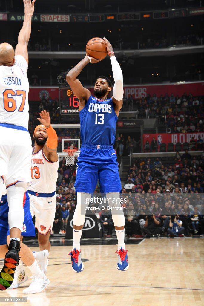 New York Knicks v LA Clippers : Fotografía de noticias