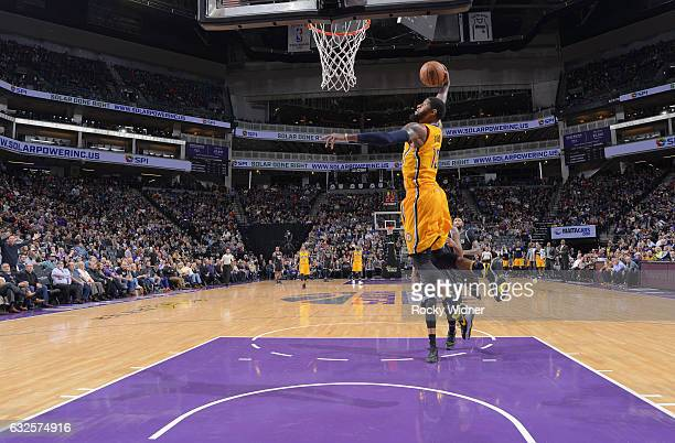 Paul George of the Indiana Pacers dunks against the Sacramento Kings on January 18 2017 at Golden 1 Center in Sacramento California NOTE TO USER User...