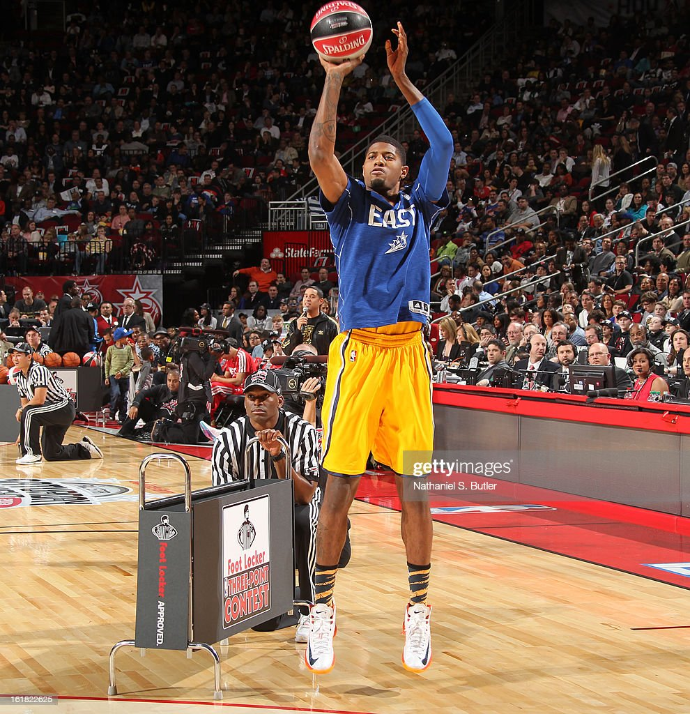 sale retailer 8841d 368dd Paul George of the Indiana Pacers during the 2013 Foot ...