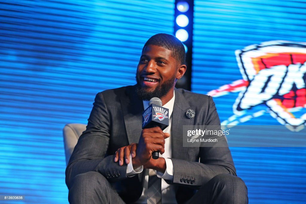 Oklahoma City Thunder Introduce Paul George during Media Event