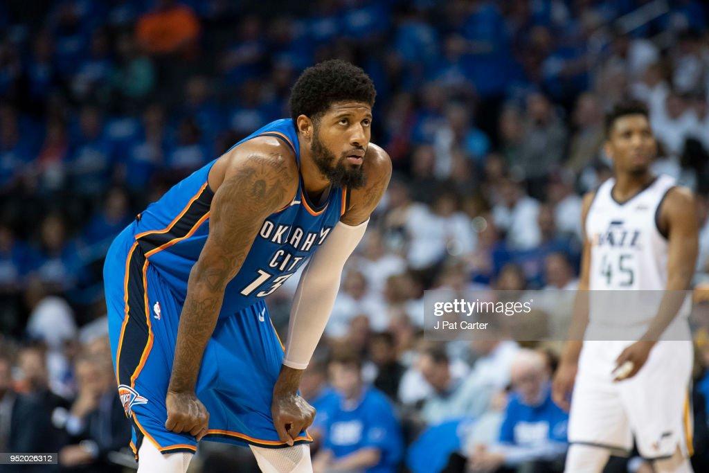 Utah Jazz  v Oklahoma City Thunder - Game Five : News Photo