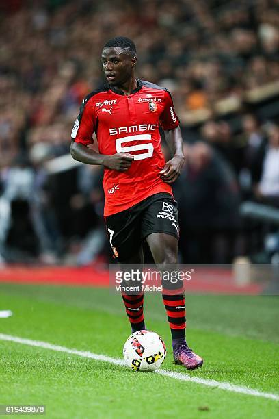 Paul Georges Ntep of Rennes during the French Ligue 1 match between Rennes and Metz at Stade de la Route de Lorient on October 30 2016 in Rennes...