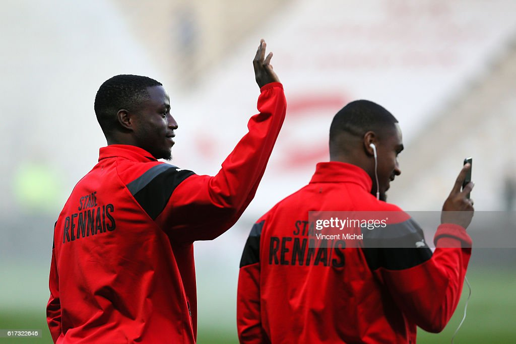 Paul Georges Ntep of Rennes during the Ligue 1 match between FC Nantes and Stade Rennais at Stade de la Beaujoire on October 22, 2016 in Nantes, France.