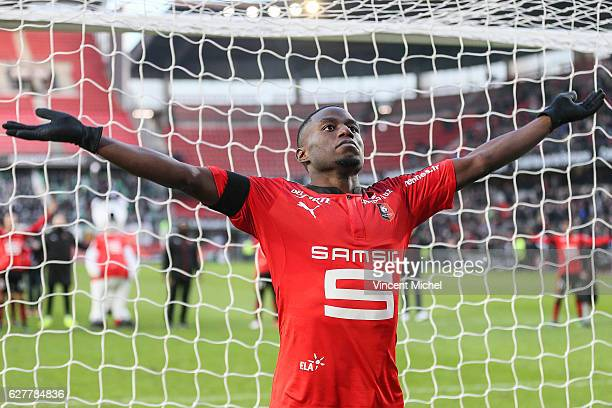 Paul Georges Ntep of Rennes during the Ligue 1 match between Stade Rennais and AS SaintEtienne at Roazhon Park on December 4 2016 in Rennes France