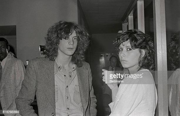 J Paul Getty II Grandson of the man reputed to be the world's wealthiest is shown with his wife Martine at Los Angeles Civil Court after he turned...