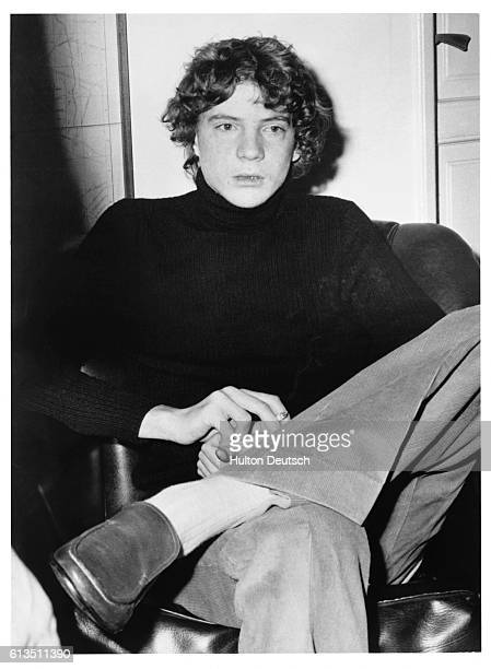Paul Getty III grandson of American multimilionaire Jean Paul Getty I at Police Headquarters in Rome after his release from a five month kidnap...