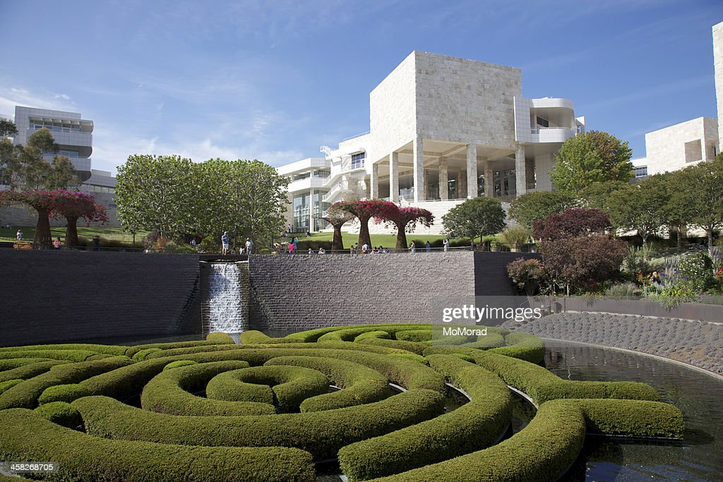 J. Paul Getty Museum Central Garden : Stock Photo