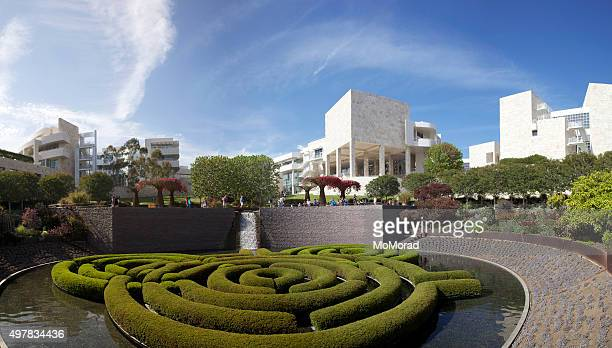 j. paul getty museum central garden - j. paul getty museum stock pictures, royalty-free photos & images
