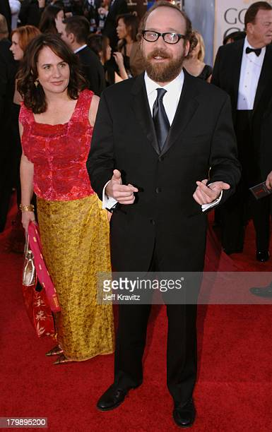 Paul Giamatti and Elizabeth Cohen during The 63rd Annual Golden Globe Awards Red Carpet at Beverly Hilton Hotel in Beverly Hills California United...