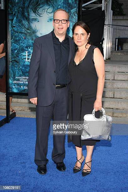 Paul Giamatti and wife Liz during Lady in the Water New York Premiere Arrivals at American Museum of Natural History in New York New York United...