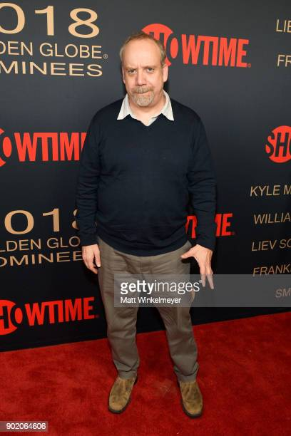 Paul Giamatti arrives for the Showtime Golden Globe Nominees Celebration at Sunset Tower on January 6 2018 in Los Angeles California