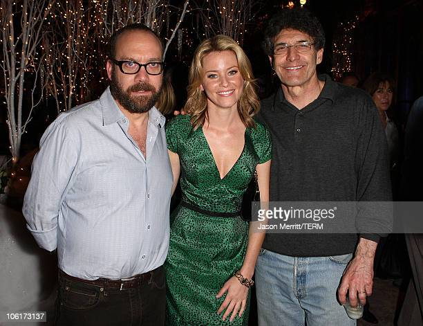 Paul Giamatti Elizabeth Banks and Warner Bros' Alan Horn at the premiere after party for Warner Bros' Fred Claus at The Lot on November 3 2007 in Los...