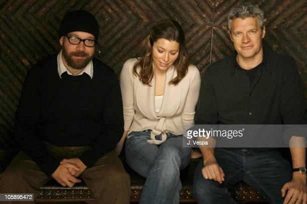 Paul Giamatti Jessica Biel and Neil Burger during 2006 Sundance Film Festival The Illusionist Portraits at HP Portrait Studio in Park City Utah...
