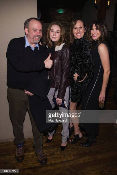 Paul Giamatti Kayli Carter Molly Shannon and Kathryn Hahn attend the Private Life filmmaker cocktail reception hosted by Netflix on January 18 2018...