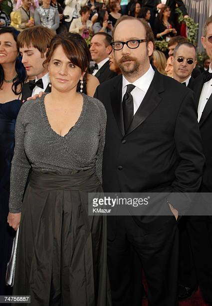 Paul Giamatti nominee Best Actor in a Supporting Role for Cinderella Man and Elizabeth Cohen at the Kodak Theatre in Hollywood California